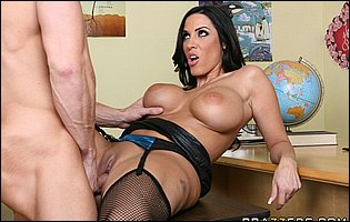 Busty teacher Veronica Rayne is having a hard sex with her student