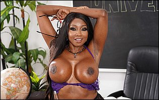 Hot teacher Diamond Jackson stripping and teasing