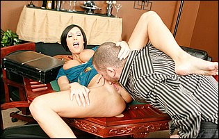 Dylan Ryder spreads legs to take a big hard cock