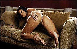 Hot brunette Dylan Ryder getting nude