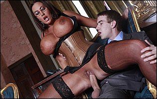 Emma Butt in sexy corset getting fucked hard by Danny D