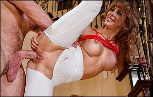 Hot dancer Cherie Deville gets her pussy filled with huge fat cock