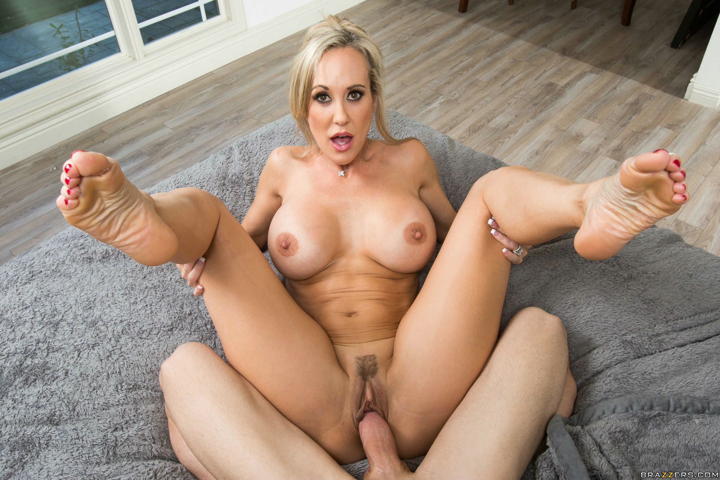 Brandi love hot mature blonde hot sex with bad boy in the chair