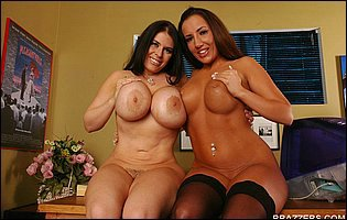 Daphne Rosen and Richelle Ryan teasing with hot bodies