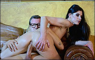 India Summer in sexy heels takes huge dick in her tight twat