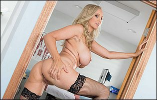 Doctor Julia Ann stripping and teasing with hot body